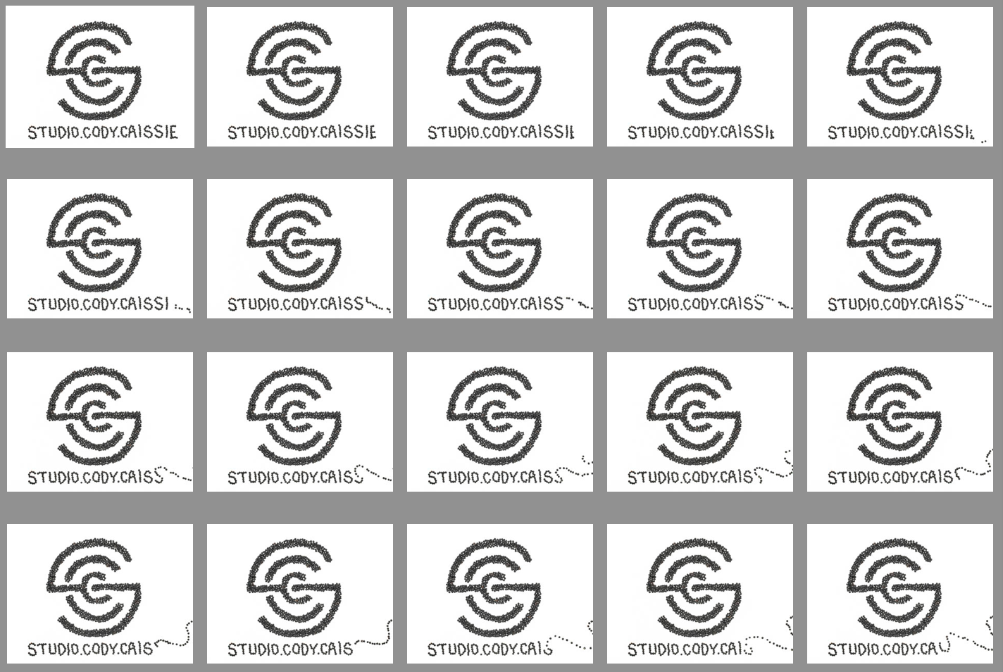 GIF vs. Stop Motion Studio Cody Caissie logo example of a stop motion animation